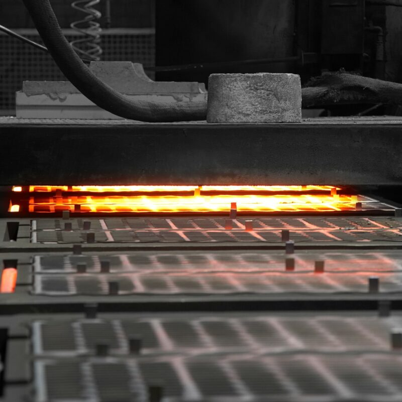 Automatic molding plant open sand casting